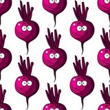 Beetroot seamless pattern Royalty Free Stock Photo