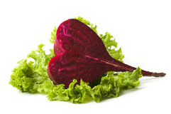 Beetroot in the shape oh heart Royalty Free Stock Image