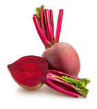 Beetroot. Sliced beetroot on white background royalty free stock photo