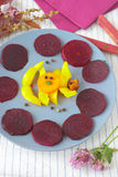 Beetroot slices Royalty Free Stock Photos