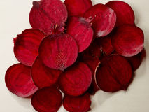 Beetroot slices Stock Photography