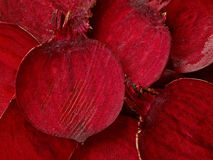 Beetroot slices macro. Background, top view Stock Images