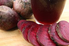 Beetroot smoothies. Close-up of beetroot smoothies royalty free stock photo
