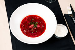 Beetroot soup Royalty Free Stock Images