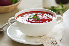 Beetroot soup Stock Photography