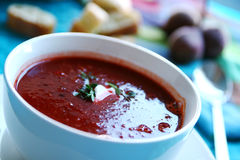 Beetroot soup Royalty Free Stock Image