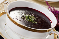 Beetroot soup - borsch Royalty Free Stock Photo