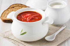 Beetroot soup borscht Stock Photos