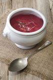 Beetroot soup in a bowl Royalty Free Stock Image