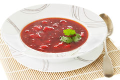 Beetroot soup Stock Images