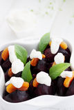 Beetroot with sour cream Royalty Free Stock Images
