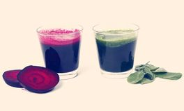 Beetroot and spinach drink Royalty Free Stock Photo