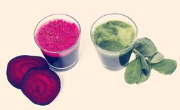 Beetroot and spinach drink Stock Photo
