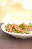 Beetroot spinach and salmon healthy salad Royalty Free Stock Photography