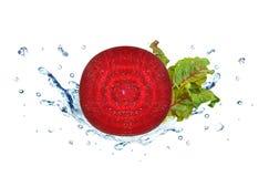 Beetroot splash water Royalty Free Stock Photos