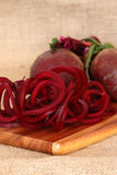 Beetroot sprialized Royalty Free Stock Image