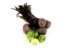 Beetroot and Sprouts Royalty Free Stock Image