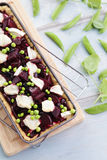 Beetroot tart royalty free stock images