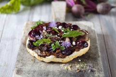 Beetroot tart Royalty Free Stock Photography