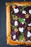 Beetroot Tart Recipe stock image