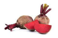 Beetroot on white background Stock Images