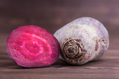 Beetroot on wood Royalty Free Stock Image