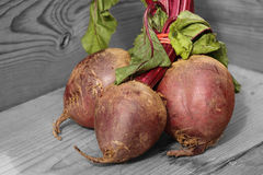 Beetroot on wood selective color Royalty Free Stock Image