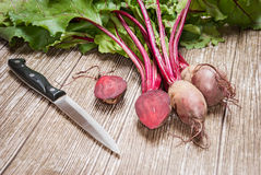 Beetroot on a wooden background. Fresh beetroot on a wooden background Royalty Free Stock Images