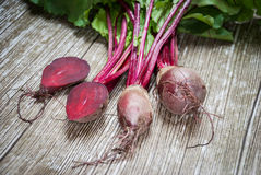 Beetroot on a wooden background. Fresh beetroot on a wooden background Royalty Free Stock Photography