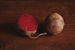 Beetroot on wooden table Stock Photography