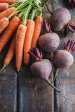 Beetroots And Carrots. Bunch of fresh organic beetroots and carrots Stock Images