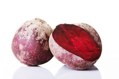 Beetroots fresh, red and raw. Royalty Free Stock Photography