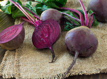 Beetroots on wooden background Royalty Free Stock Image