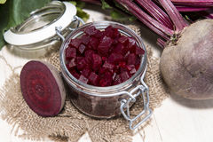 Beetrot on wooden background Stock Photography