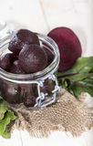 Beetrot on wooden background Royalty Free Stock Photography