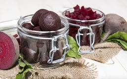 Beetrot on wooden background Stock Photos