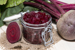 Beetrot on wooden background Stock Photo