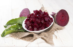 Beetrot on wooden background. Fresh Beetroot on wooden background (macro shot Stock Photography