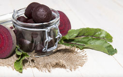 Beetrot on wooden background Royalty Free Stock Image