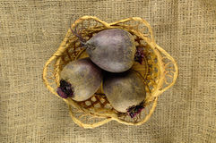 Beets in a basket Royalty Free Stock Image