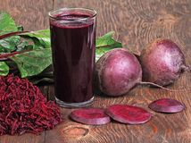Beets and beets juice Stock Images