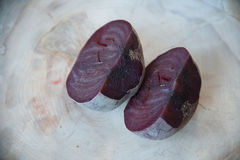 Beets boiled. On a textured cutting Board Royalty Free Stock Image