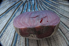 Beets boiled. On a textured cutting Board Stock Photography