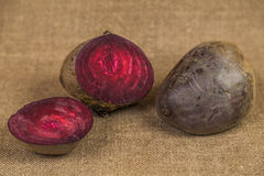 Beets on a brown background Stock Photos