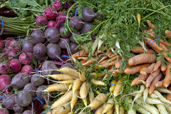 Beets and Carrots Royalty Free Stock Images