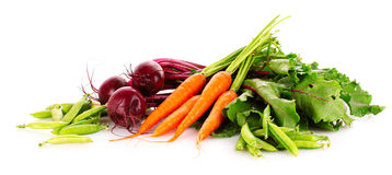 Beets, carrots and peas Royalty Free Stock Images