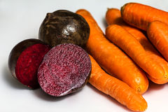 Beets and carrots Royalty Free Stock Image