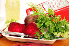 Beets and parsley. Royalty Free Stock Photography