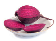 Beets on a saucer Royalty Free Stock Photo