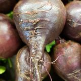 Beets in the store. Fine details of texture on big red beats close up at the market stock images